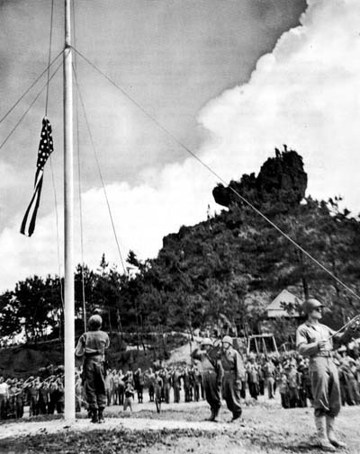 The 22 June 1945 flag raising signaling the end of organized Japanese resistance