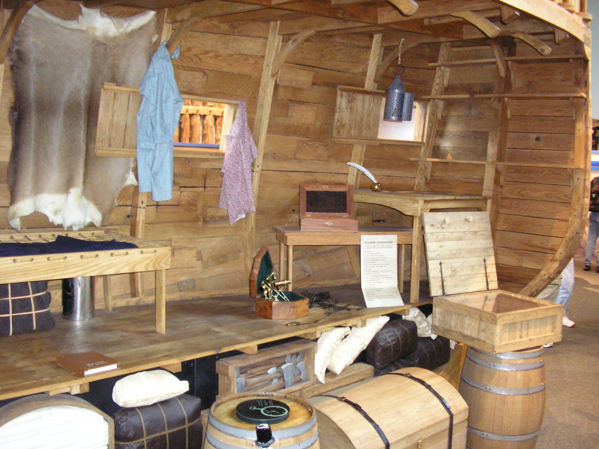 A Photographic Essay On Lewis And Clarks Keelboat  Lewis And Clark  Photo Interior Cutaway View Of The Keelboats Cabin Looking Toward The  Stern Note The