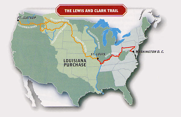 map the lewis and clark trail