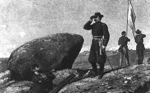 Getting the message through chapter 1 illustration general warren at the signal station on little round top publicscrutiny Image collections