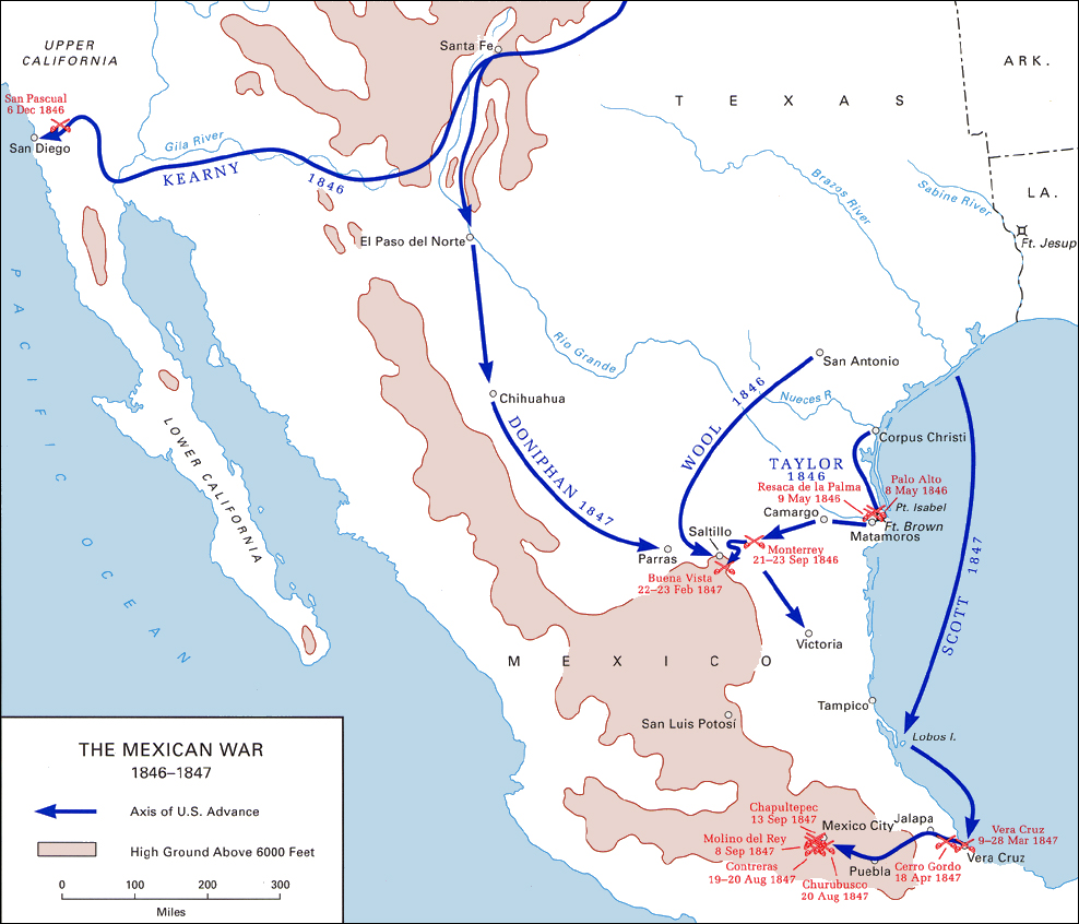The Mexican War 1846 1847 Map 20