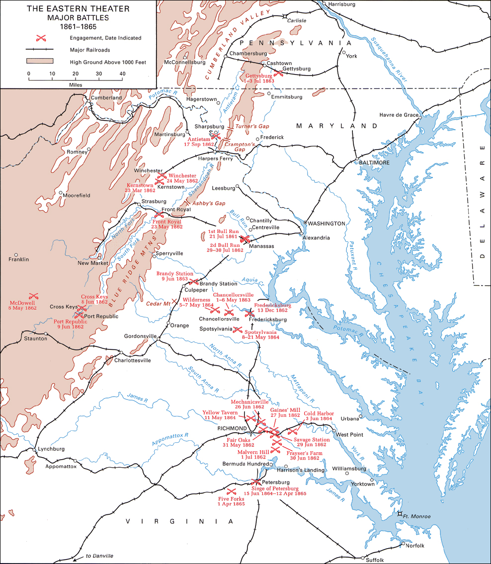Chapter American Military History Volume I - Map of us at start of civil war