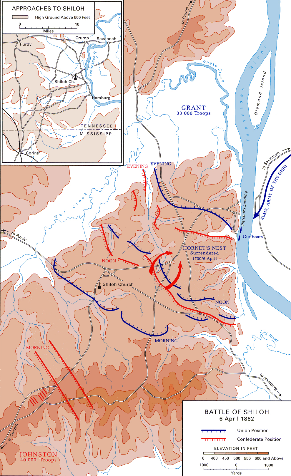 Map Of The Field Shiloh