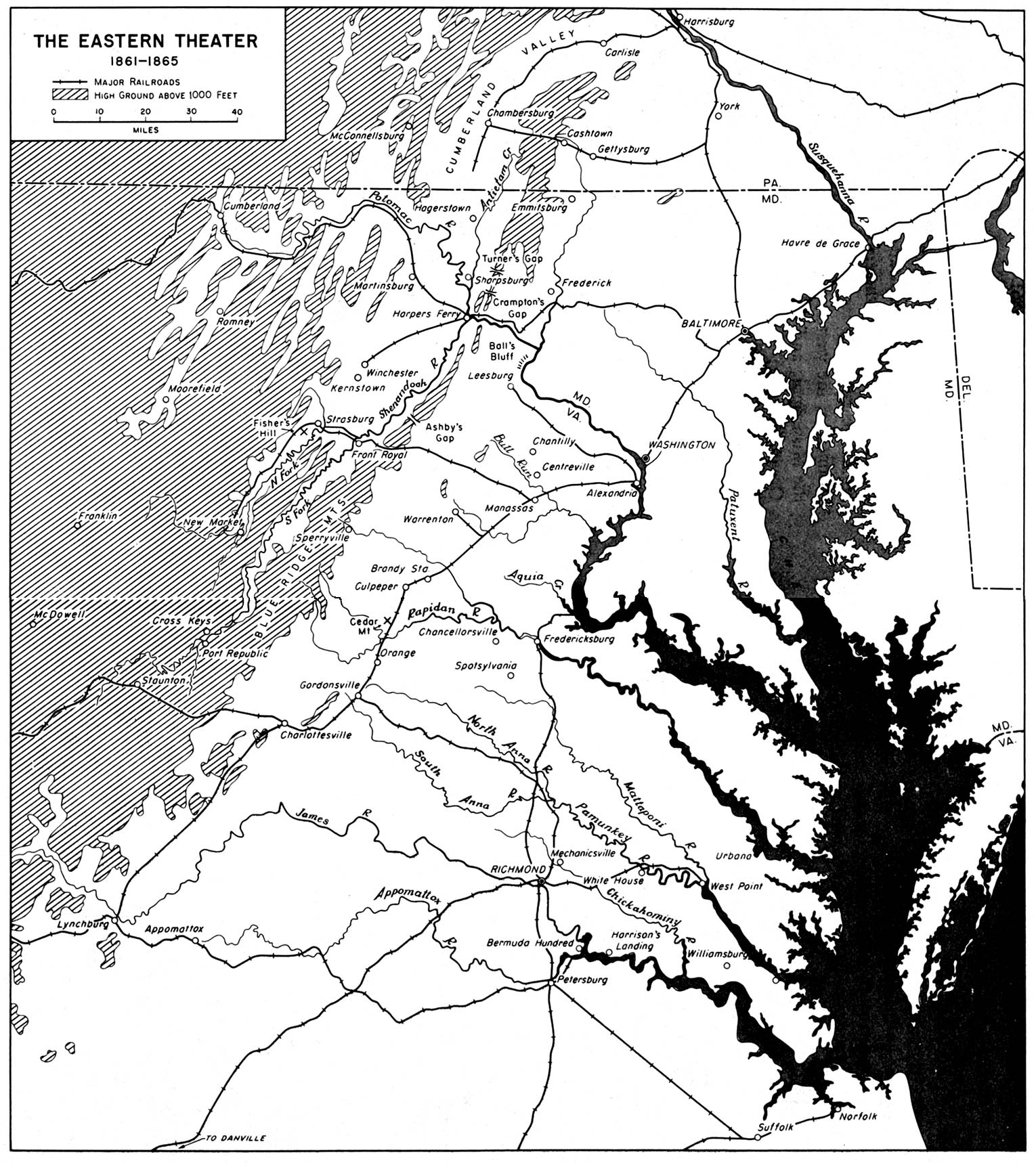 Chapter The Civil War - Map of us in may 1861