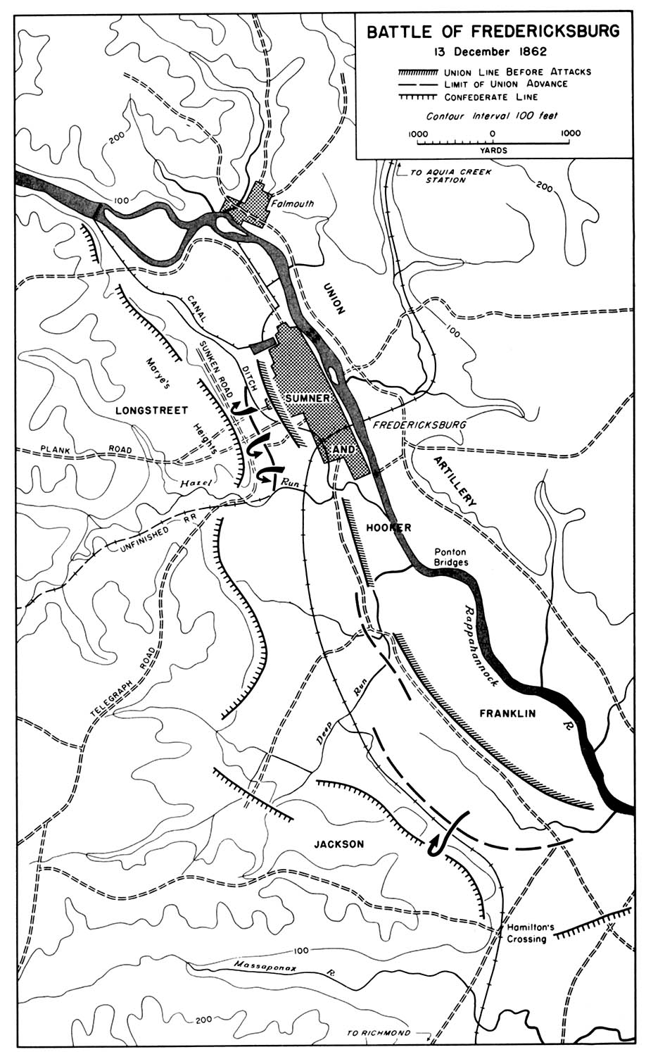 chapter 10 the civil war 1862 One Page Review map 27 battle of fredericksburg 13 december 1862