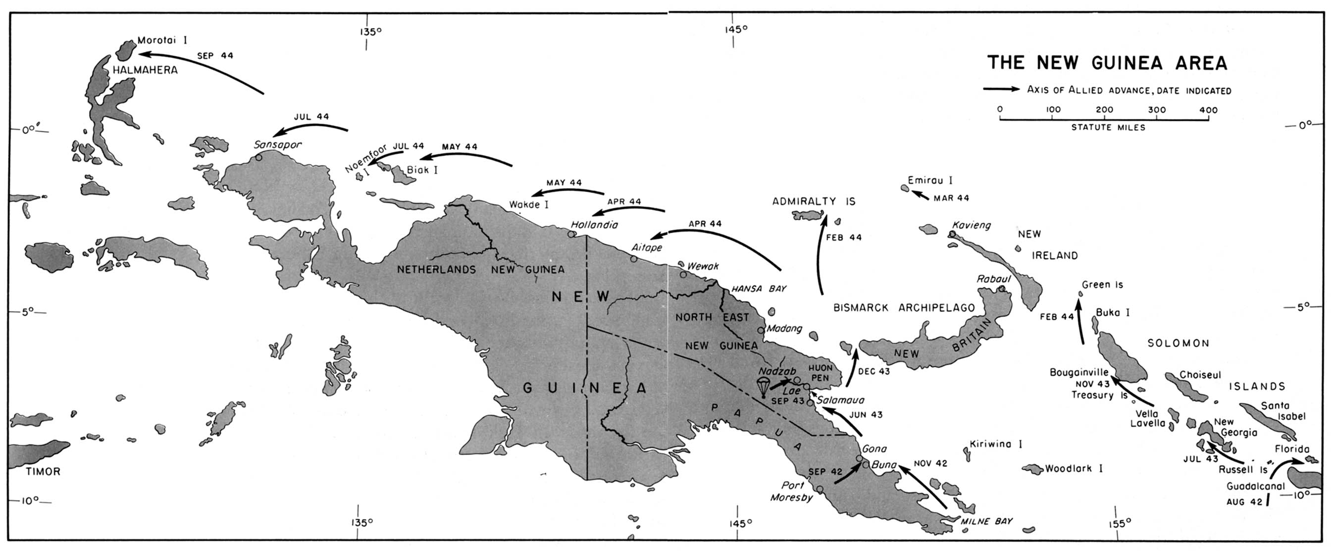 Chapter 23 world war ii the war against japan map 43 the new guinea area gumiabroncs Image collections