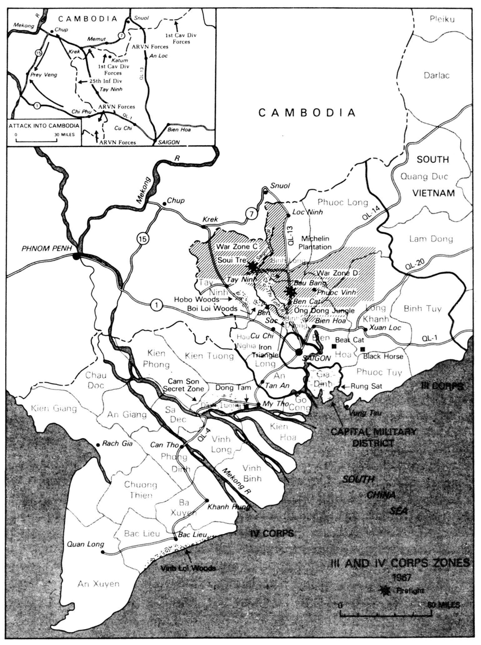 Iii An Iv Corps Zones 1967 Map 48