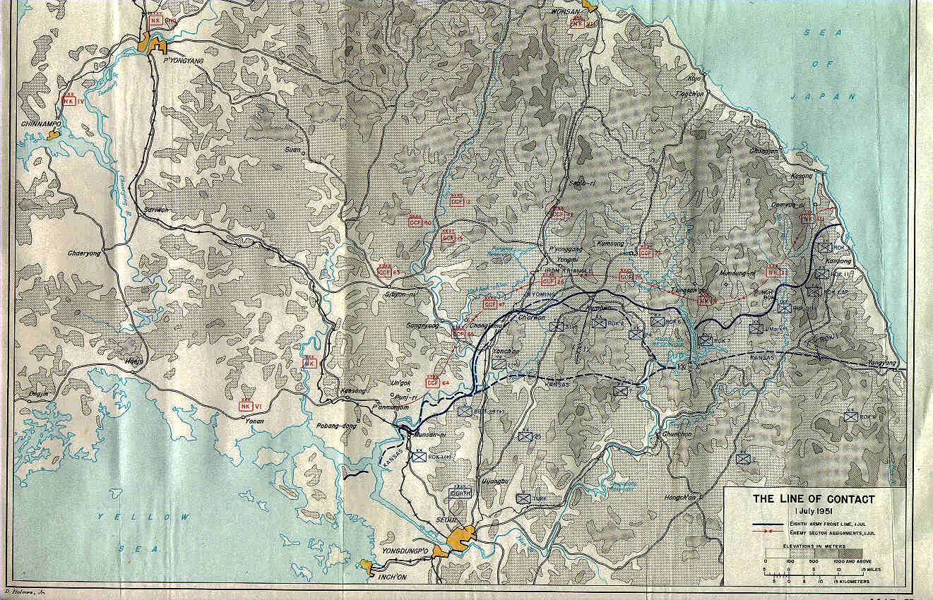 KOREAN WAR MAPS US Army Center Of Military History - Us army travel map