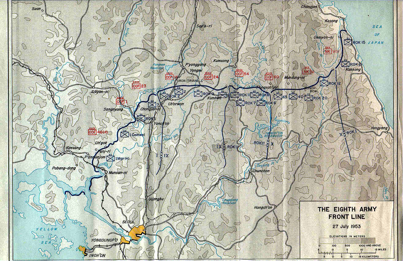 KOREAN WAR MAPS US Army Center Of Military History - Us front map