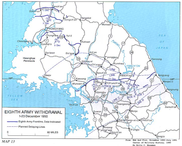 Eighth Army Withdrawal 1 23 December 1950