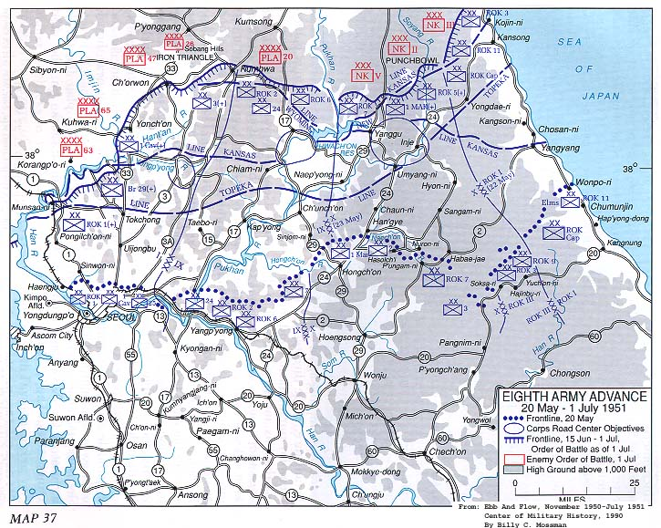 KOREAN WAR MAPS US Army Center Of Military History - 38th Parallel Us Map