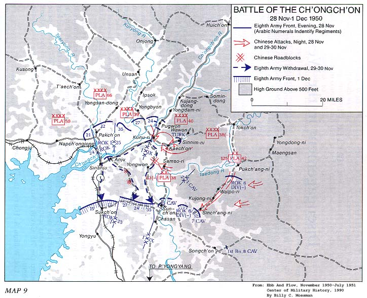 Battle Of The Ch Ongch On 28 November I December 1950