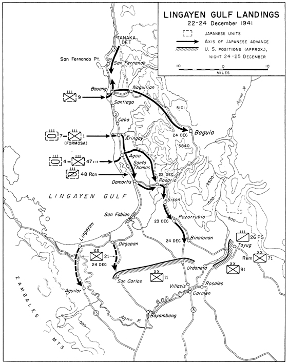 the fall of the philippines chapter 8 Chongqing Map map lingayen gulf landings 22 24 december 1941