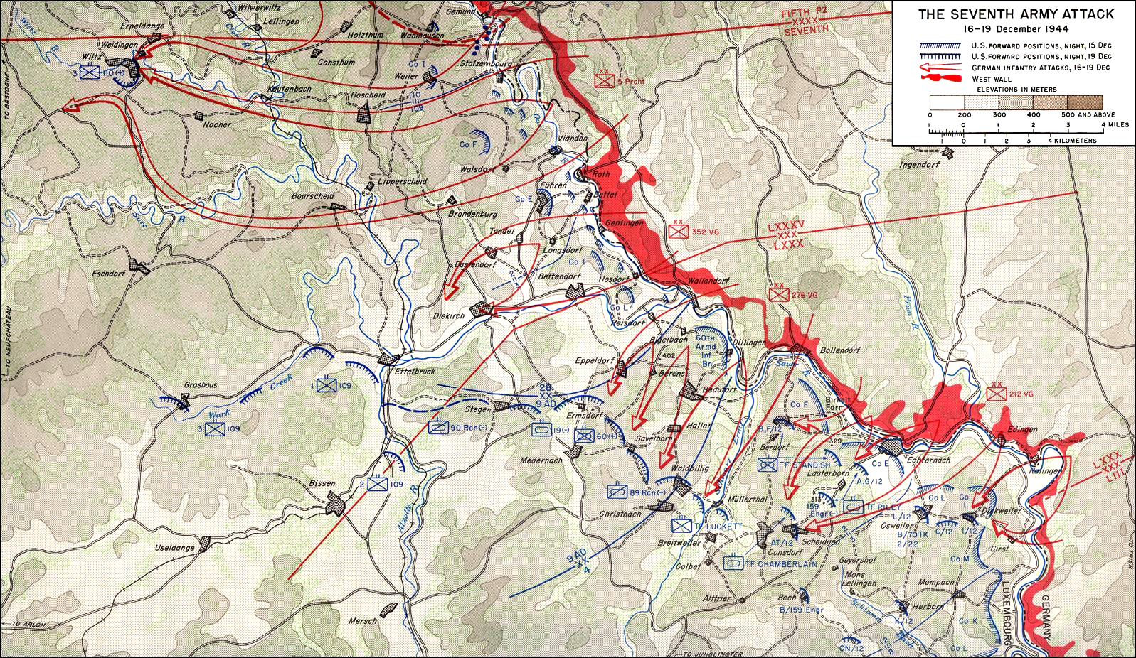 The ardennes battle of the bulge contents v the seventh army attack 16 19 december 1944 gumiabroncs Choice Image