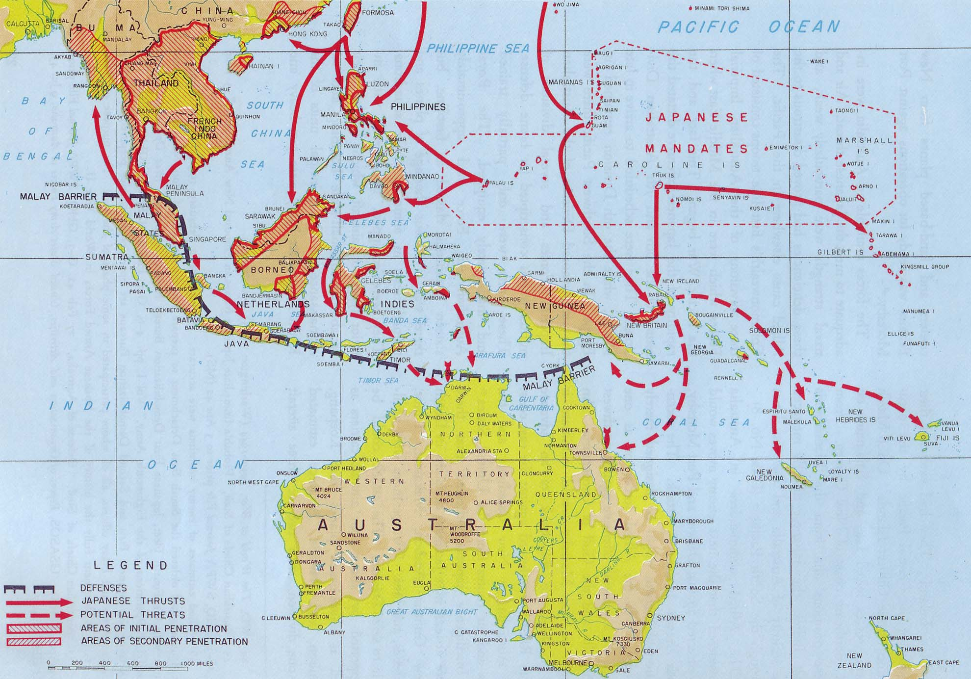8 disintegration of the malay barrier adn the threat to australia