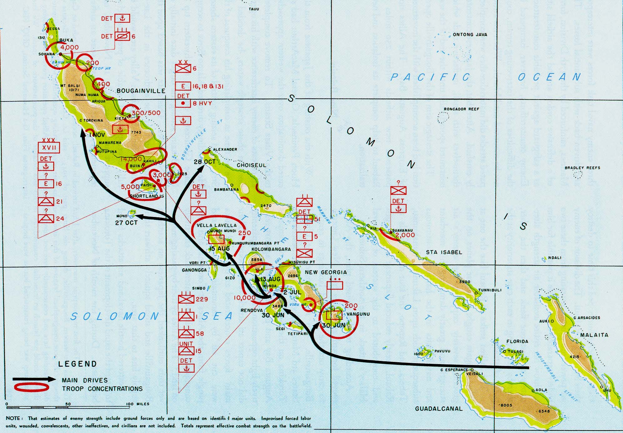 Map Of Island Hopping Campaign