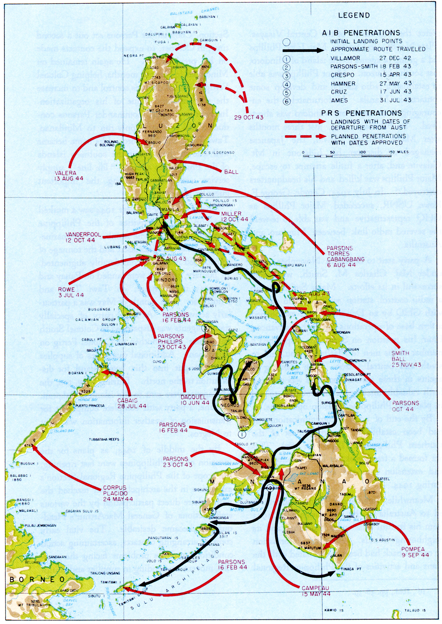Chapter 10 guerrilla activities in the philippines plate no 86 aib and prs penetrations of the philippines 1943 1945 gumiabroncs Image collections