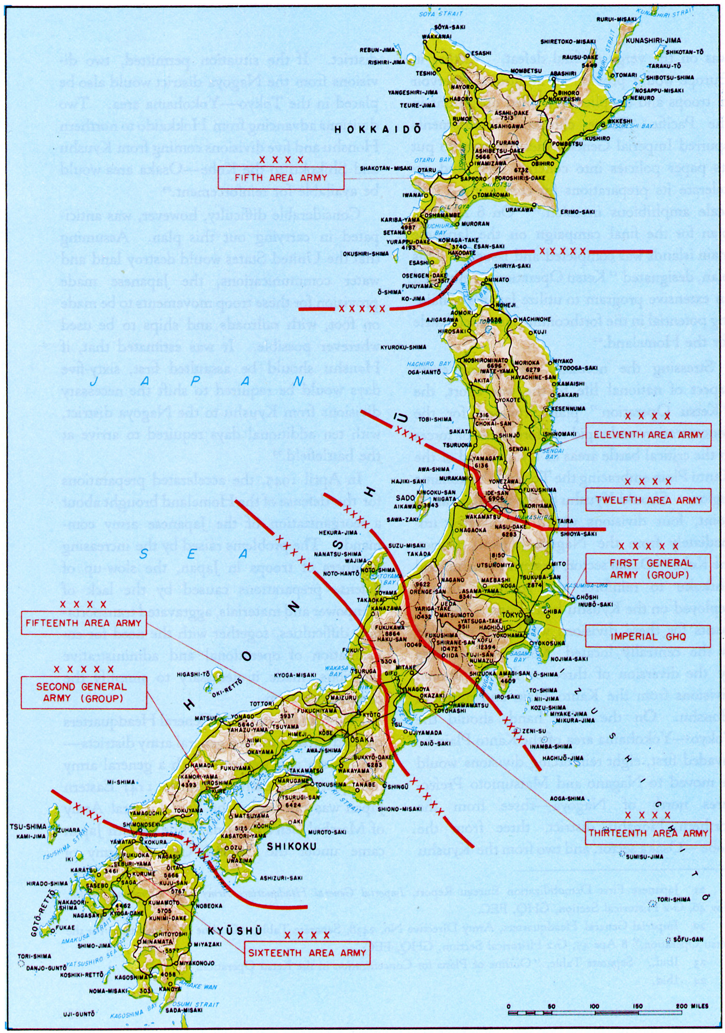 Chapter 13 DOWNFALL The Plan For The Invasion Of Japan - Us Air Force Bases In Japan Map