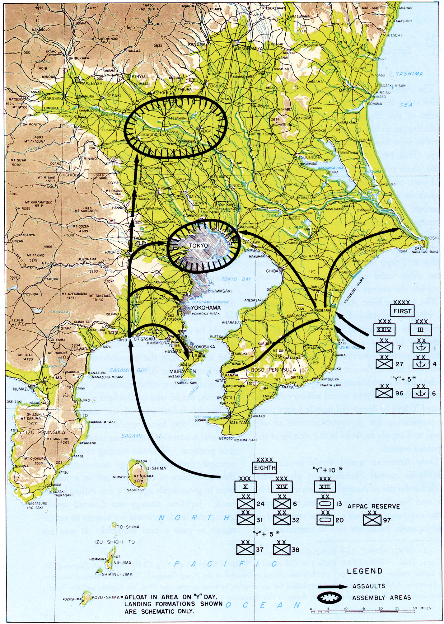 Chapter DOWNFALL The Plan For The Invasion Of Japan - Why an invasion of us would fail map