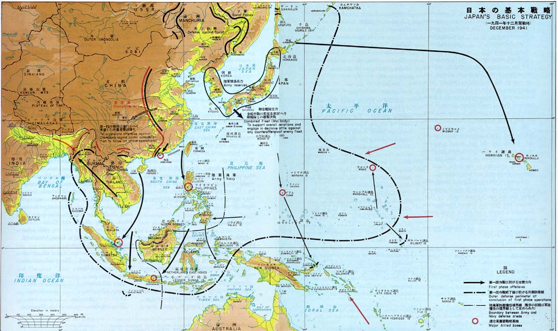 Chapter iv basic strategy and military organization 8 map japans basic strategy december 1941 gumiabroncs Images