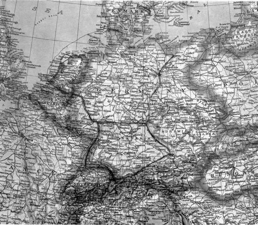 Chapter IX Tripartite Agreements - Germany occupation zones map