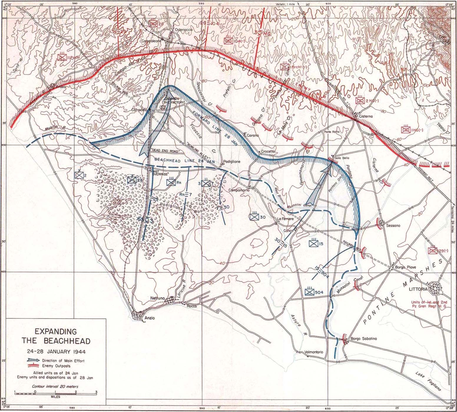 Anzio Beachhead The Anzio Landing 2229 January
