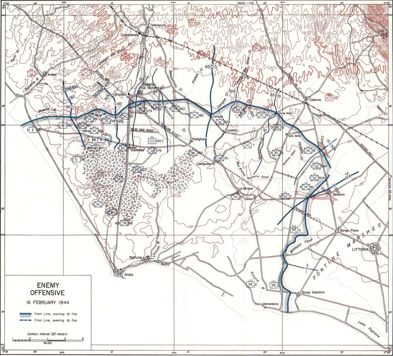 Anzio Beachhead The Major German Offensive 1620 February