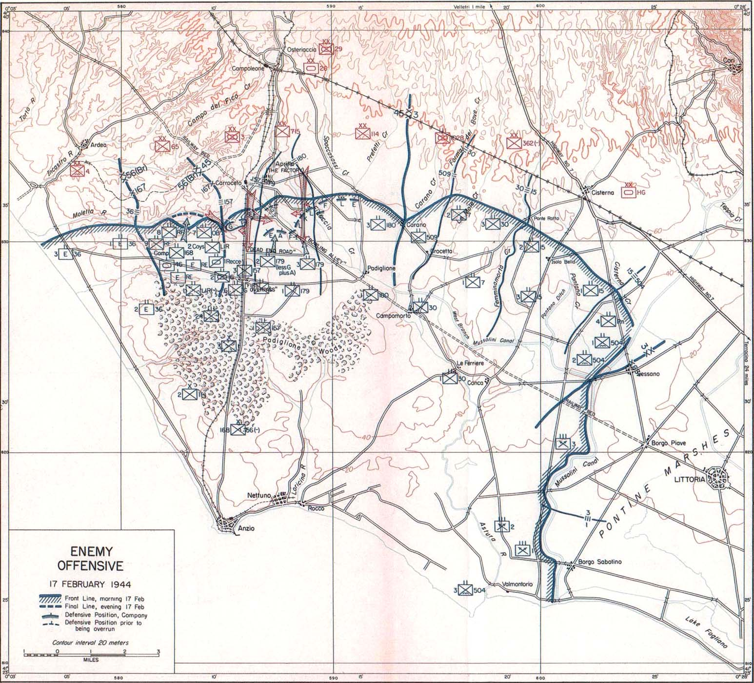 Anzio Beachhead VI Corps Holds The Beachhead 20 February3 March