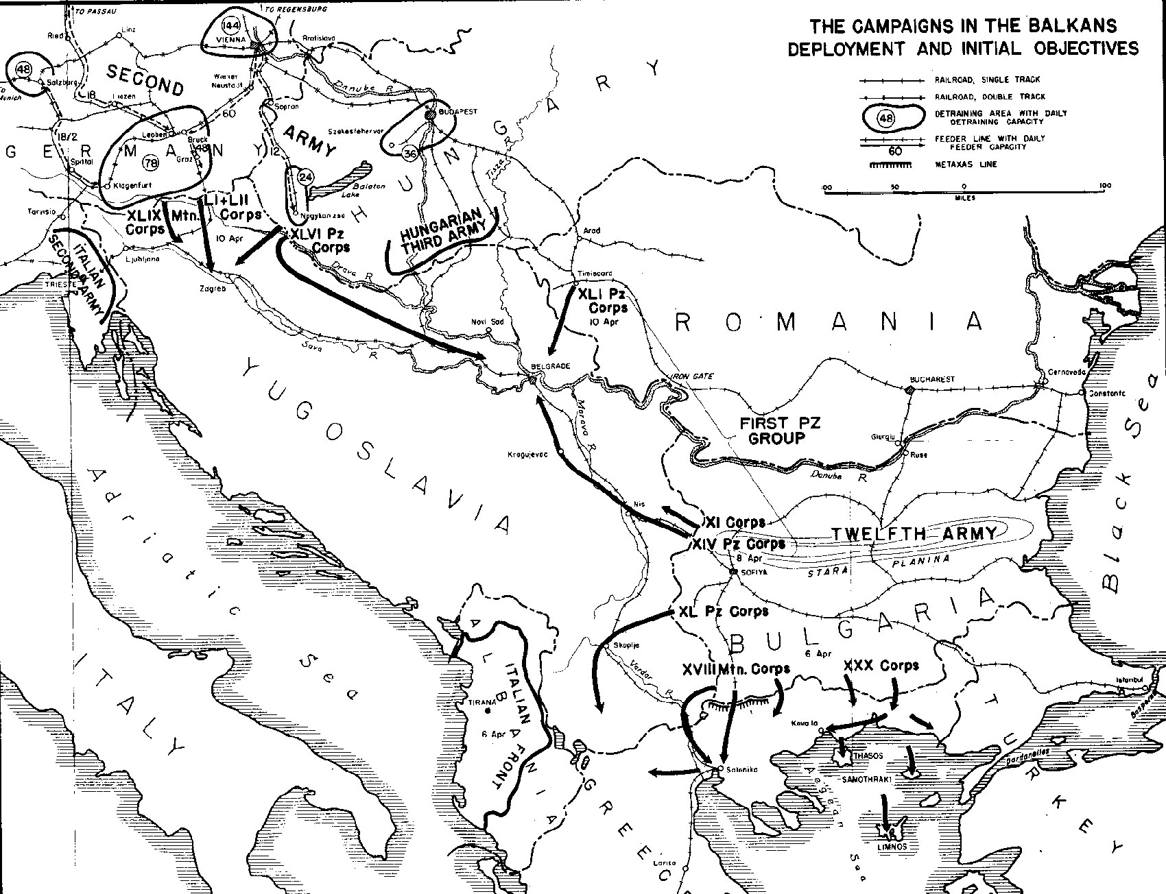 the german c aign in the balkans spring 1941 part ii Apennine Mountains Map map the c aigns in the balkans deployment and initial objectives