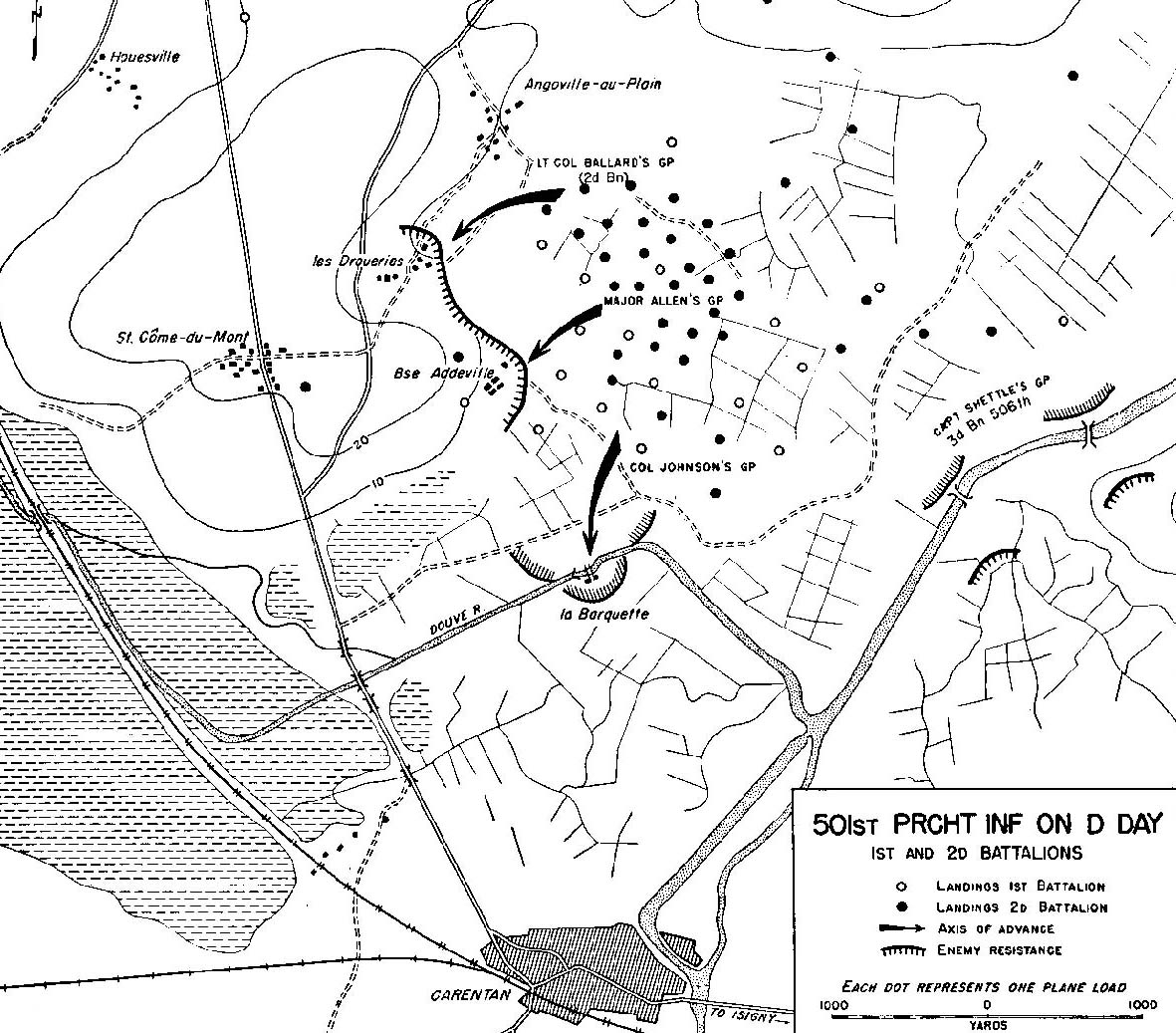 501st parachute infantry on d day 1st and 2d battalions