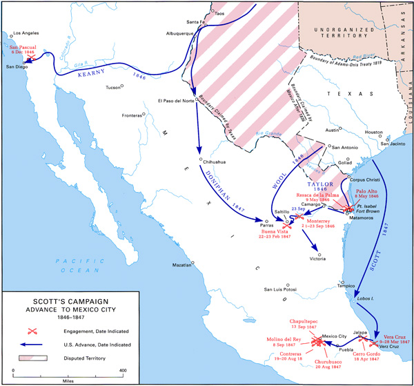 The Occupation Of Mexico May 1846 July 1848