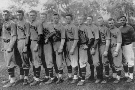Bradley (second from left) and the West Point baseball team.