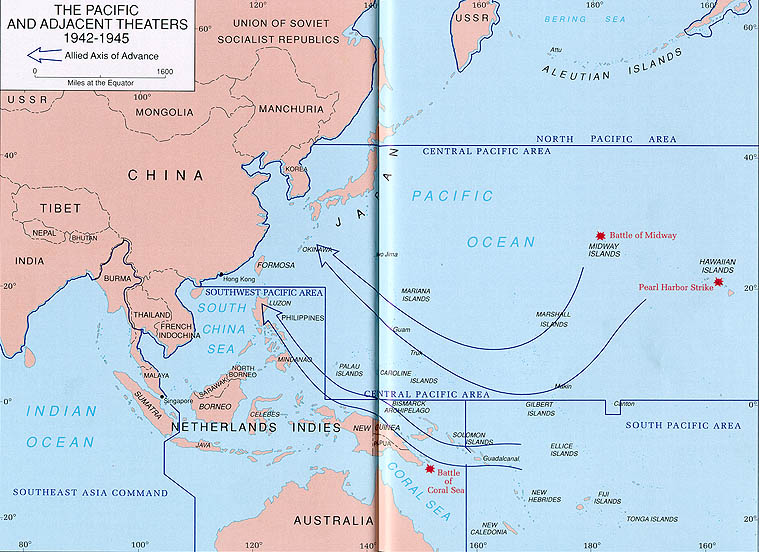 The Pacific And Adjacent Theaters 1942 1945