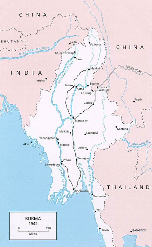 Links to world war ii maps by history link 101 japanese conquest of burma 1942 east indies maps gumiabroncs Choice Image