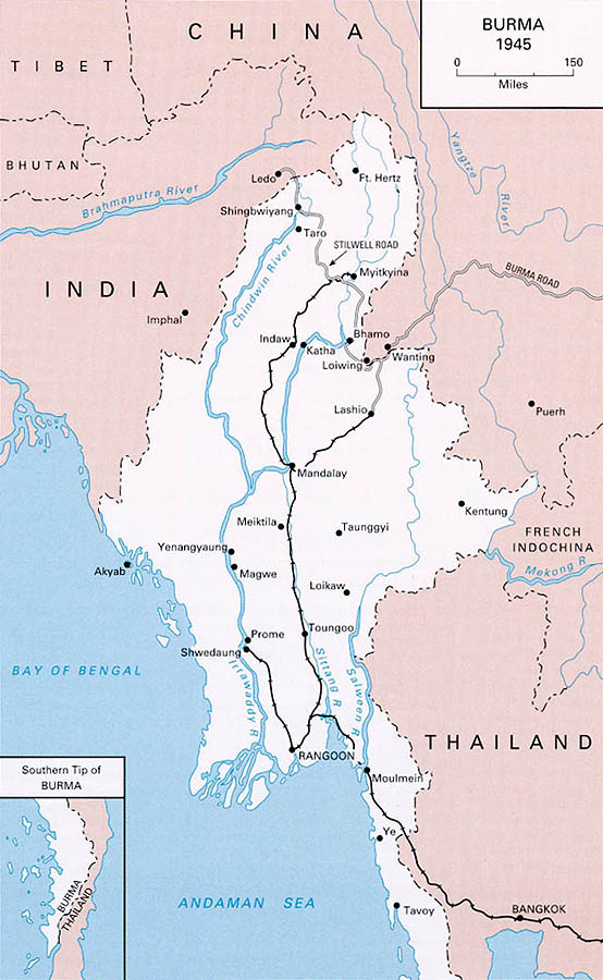 Maps of world war ii central burma map 1945 gumiabroncs Image collections