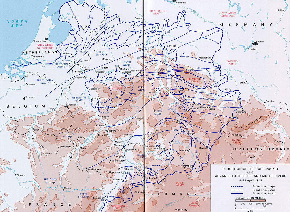 Central Europe - Central europe map 1945