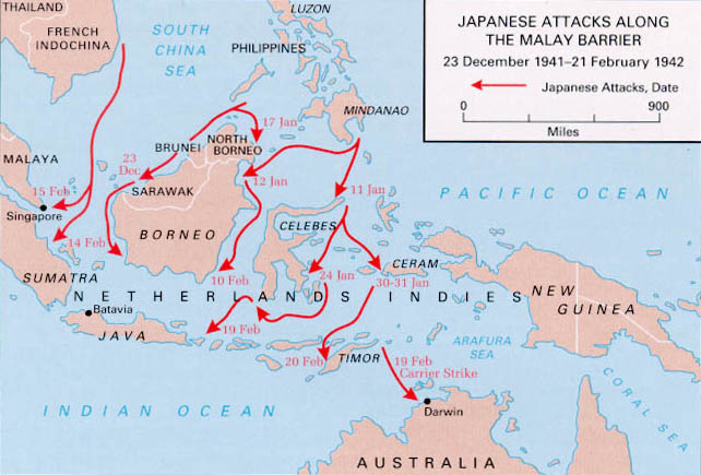 Links To World War II Maps By History Link - Japan map 7