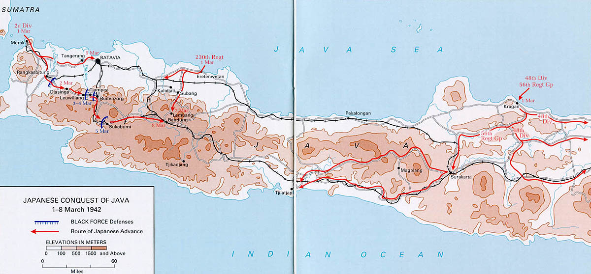 japanese conquest of java 1942 india burma maps