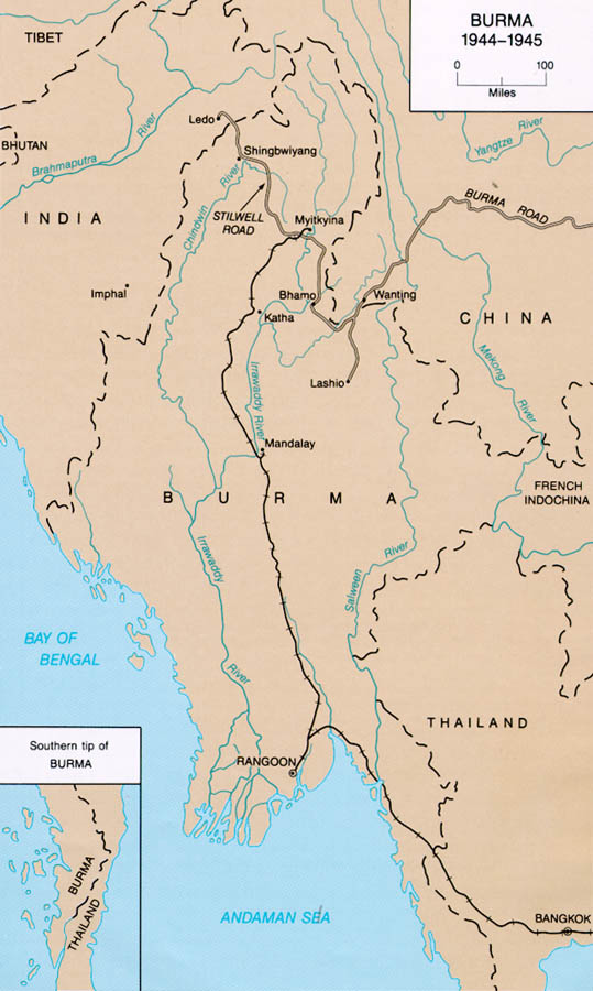 IndiaBurma - Burma in world map