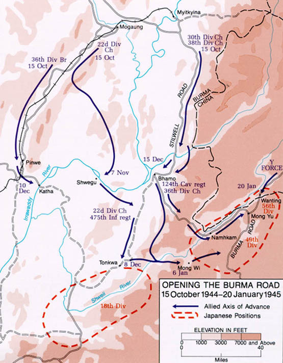 Links to World War II Maps by History Link 101