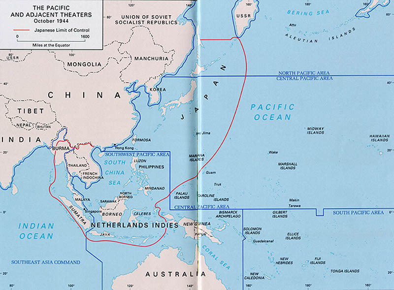 Pacific and Adjacent Theatre October 1944 (map)