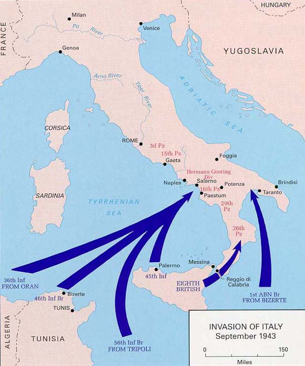 Map Invasion Of Italy
