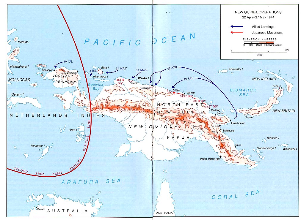 new guinea operations 22 april 27 may 1944 map