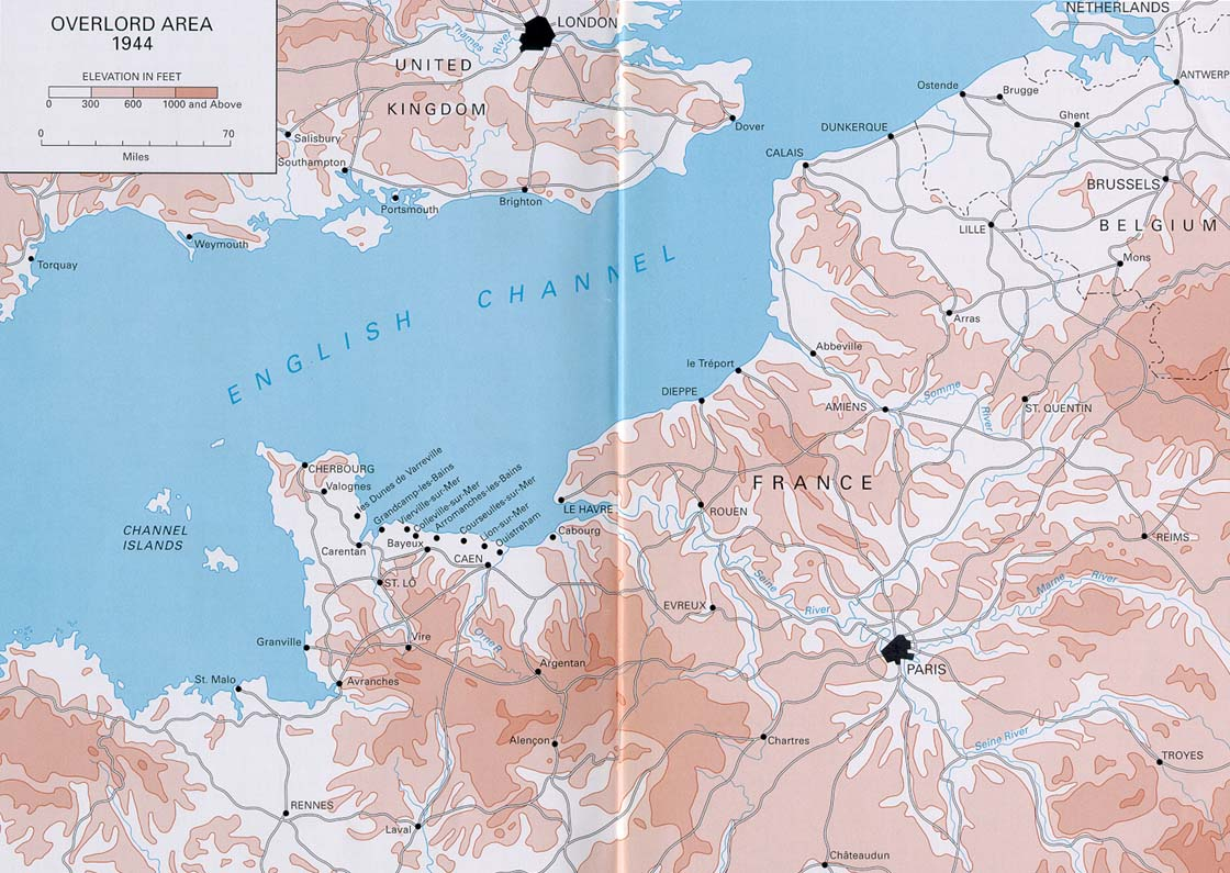 Normandy - Why an invasion of us would fail map