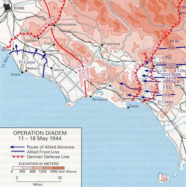 Wwii in europe map operation diademitaly may 11 18 1944 gumiabroncs Image collections