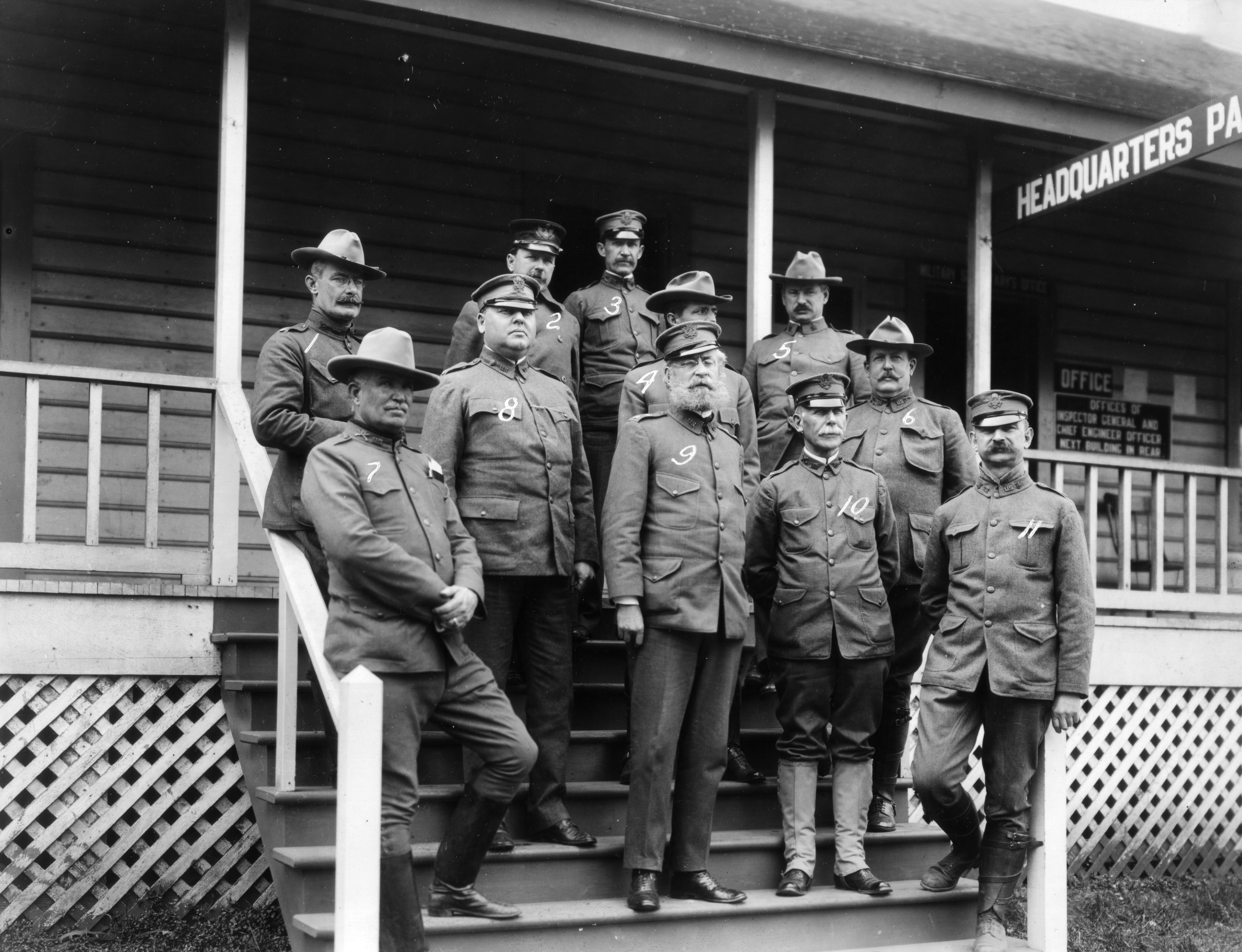 photo sc95082 some of the staff officers of the pacific military division at the