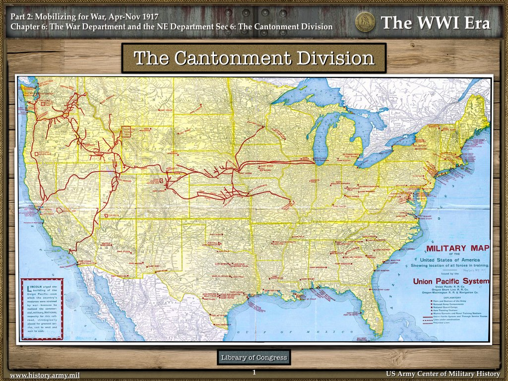 The cantonment division the wwi era us army center of military the war department in 1917 gumiabroncs Images