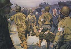Painting, Evacuating Wounded Soldiers, by 
