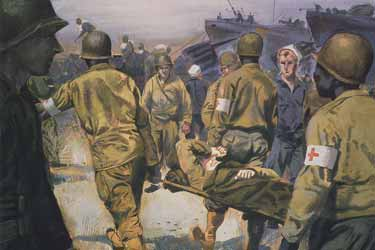 Painting, Evacuating Wounded Soldiers, by Harrison Standley