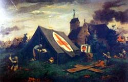 Painting, Normandy Sabbath, by Lawrence Beall Smith